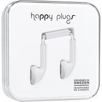 Happy Plugs 7711 Earbuds,  wMic, White