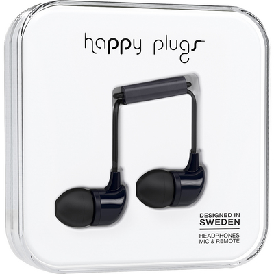 Happy Plugs InEar EarbudswMic Black