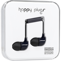 Happy Plugs InEar Earbuds with mic, Black