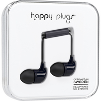 Happy Plugs 7720 InEar Earbuds, wMic Black