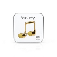 Happy Plugs 7728 InEar Earbuds, wMic Gold