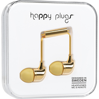 Happy Plugs InEar Earbuds with Mic, Gold