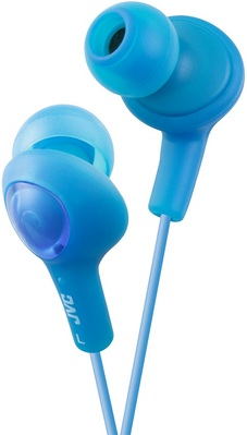 JVC GUMY PLUS IN EAR HEADPHONE, BLUE