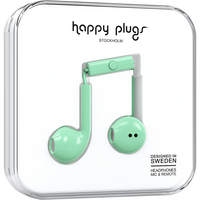 Happy Plugs 7814 Earbuds,  Plus, Mint
