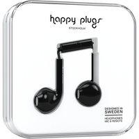 Happy Plugs Earbuds Plus with Mic, Black