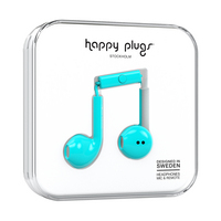 Happy Plugs Earbuds Plus with Mic, Turquoise