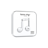 Happy Plugs Earbuds Plus with Mic, White