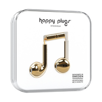 Happy Plugs 7821 Earbuds,  Plus, Gold