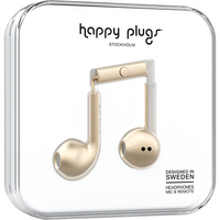 Happy Plugs 7826 Earbuds,  Plus, Matte Gold