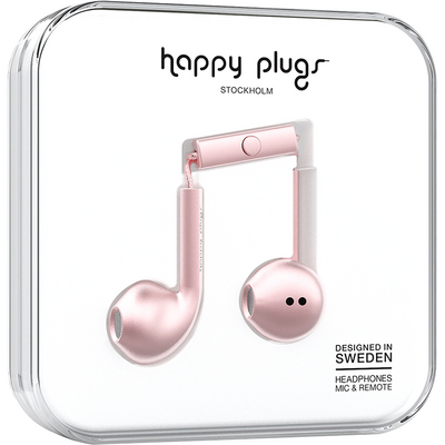 Happy Plugs  7827 Earbuds PlusPink Gold
