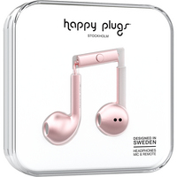 Happy Plugs 7827 Earbuds,  Plus, Pink Gold