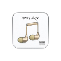 Happy Plugs  7832 InEar EarbudswMic Matte Gold