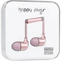 Happy Plugs 7836 InEar Earbuds, wMic Pink Gold
