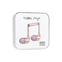 Happy Plugs  7836 InEar EarbudswMic Pink Gold