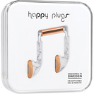Happy Plugs Earbuds with Mic, White Marble Rose
