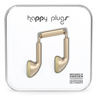 Happy Plugs 7831 Earbuds, , Matte Gold