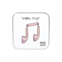 Happy Plugs   7835 Earbuds Pink Gold