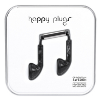 Happy Plugs, Inc Happy Plugs Earbud Black Saint Laurent Marble, Black Marble