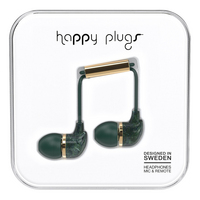 Happy Plugs 7786 InEar Earbud, Jade Green Marble
