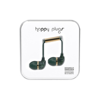 Happy Plugs InEar Earbuds with Mic, Green Marble