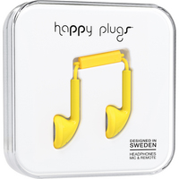 Happy Plugs 7706 Earbuds,  wMic, Yellow