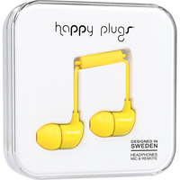 Happy Plugs InEar Earbuds with Mic, Yellow