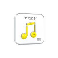 Happy Plugs Earbuds Plus with Mic, Yellow