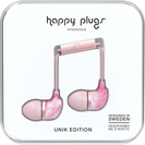 Happy Plugs InEar Earbuds with Mic, Pink Marble