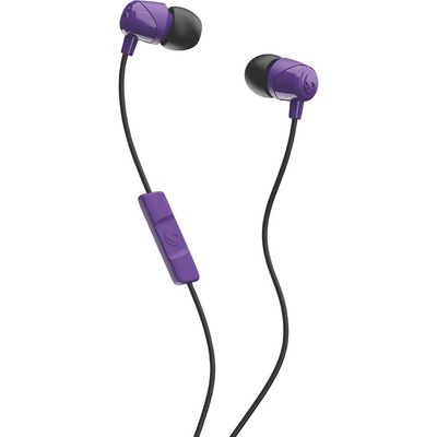 Skullcandy Jib InEar Earbuds with Mic, PurpleBlack