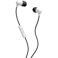 Skullcandy Jib InEar Earbuds with Mic, WhiteBlack