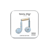 Happy Plugs Earbuds Plus Blue Quartz