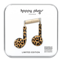 Happy Plugs Earbuds Plus Leopard