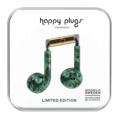 Happy Plugs HAPP 7607 Earbuds Plus Peacock