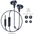 TCL In Ear Wired Stereo Headphones with Mic in Midnight Blue