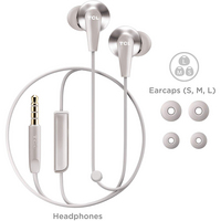 TCL In Ear Wired Stereo Headphones with Mic in Cement Gray