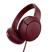 TCL Burgundy Crush Onear Overthehead Wired Headphones with integrated inline remote and Mic