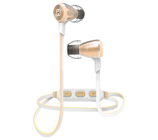 iHome Wireless Bluetooth Metal Earphone with Mic, Champagne