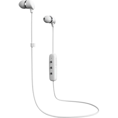 Happy Plugs InEar Earbuds Wireless with Mic, White
