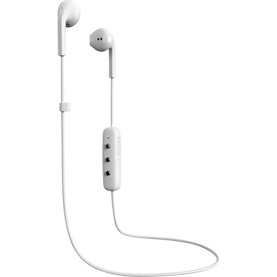 Happy Plugs Earbuds Plus Wireless with Mic, White