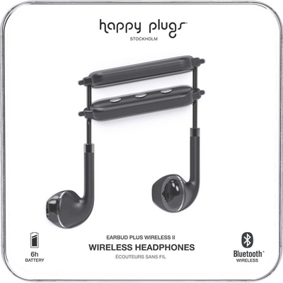 Happy Plugs  Earbuds Plus Wireless 2 Black
