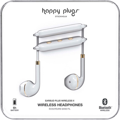 Happy Plugs  Earbuds Plus Wireless 2 White
