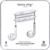 Happy Plugs Earbuds Plus Wireless II, White Marble