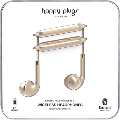 Happy Plugs   7624 Earbuds PlusWireless 2 Matte Gold