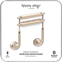 Happy Plugs Earbuds Plus Wireless II, Matte Gold