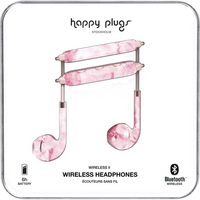 Happy Plugs Earbuds Plus Wireless II, Pink Marble