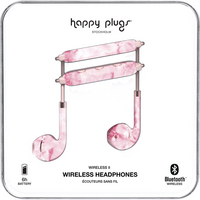 Happy Plugs Wireless II Earbuds Pink Marble
