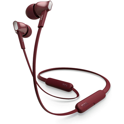 TCL Burgundy Crush Wireless Inear Bluetooth Headphones with Mic