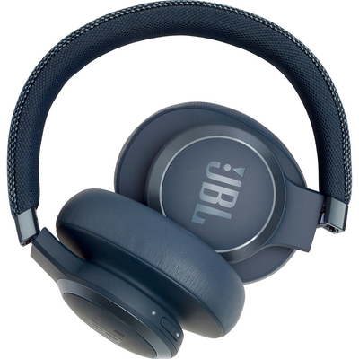 JBL Live 650BTNC Wireless Noise Cancelling OverEar Headphone, Blue