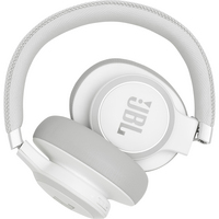 JBL Live 650BTNC Wireless Noise Cancelling OverEar Headphone, White