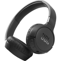 JBL Tune 660NC Wireless Noise Cancelling OnEar Headphones, Black